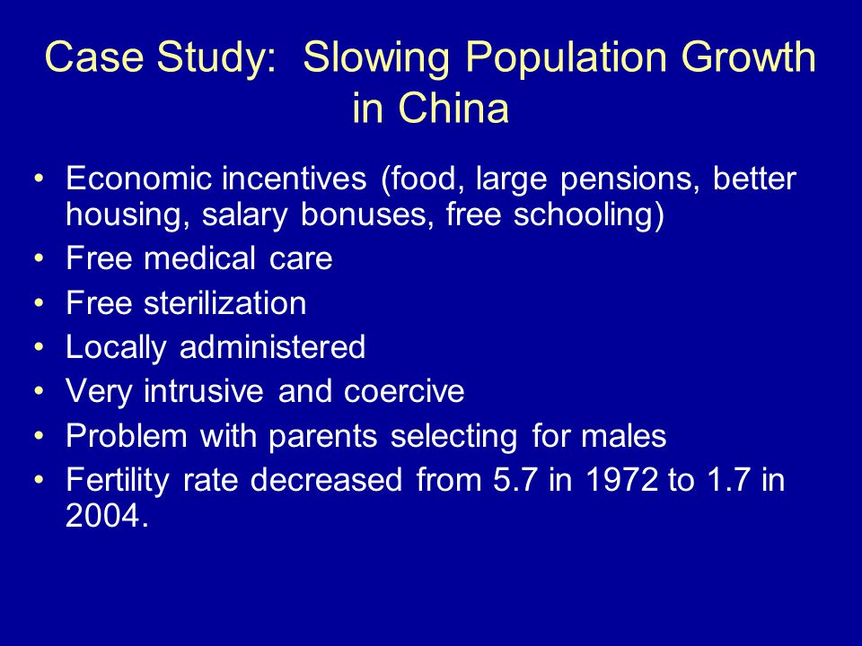 Population Growth Case Study Example | Topics and Well ...