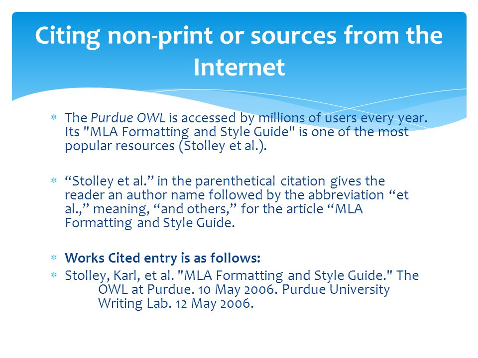 online work cited mla format Founded in 1883 by teachers and scholars, the modern language association (mla) promotes the study and teaching of language and literature.