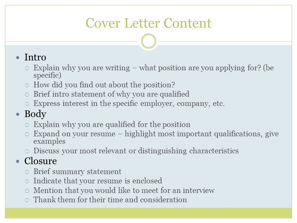 cover letter for content writer