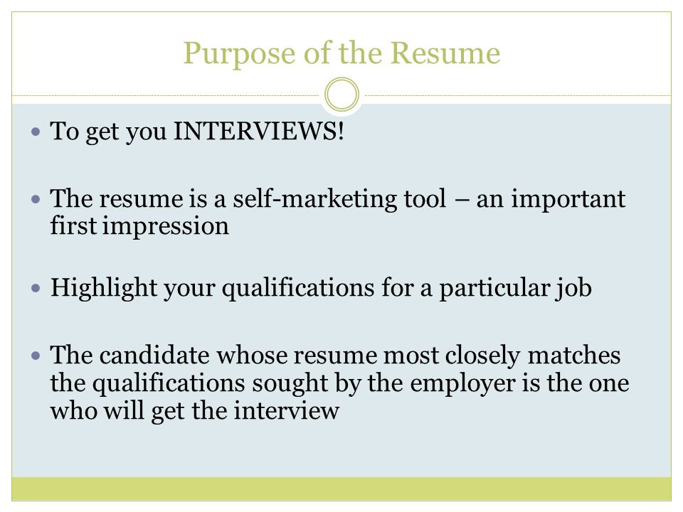 Resume Writing Tool