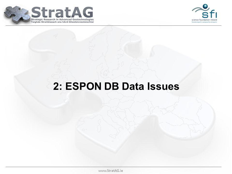 2: ESPON DB Data Issues