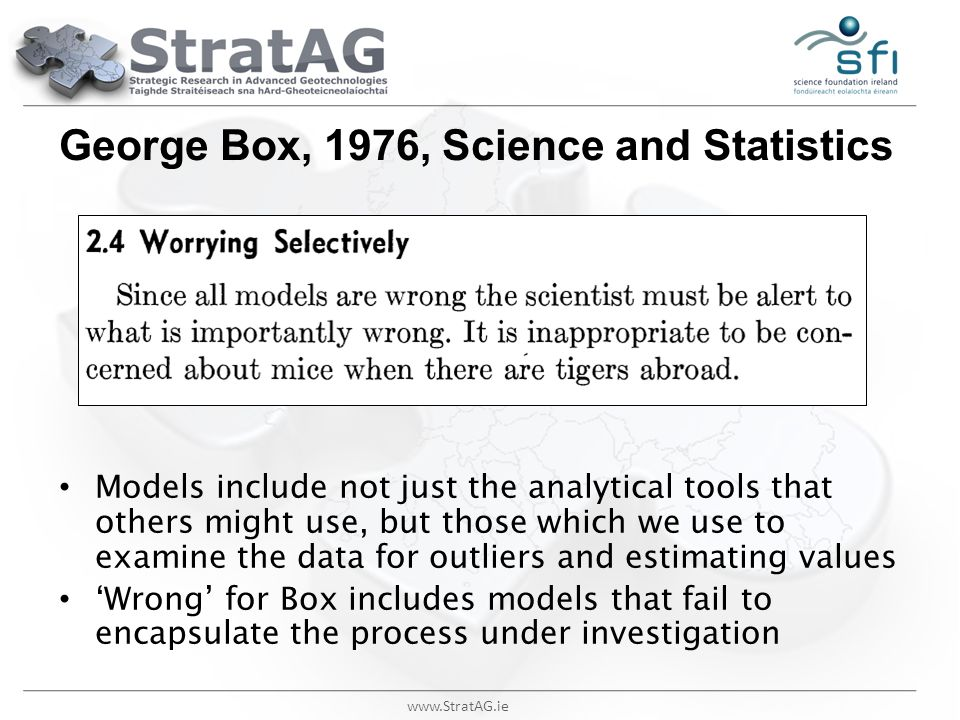 George Box, 1976, Science and Statistics