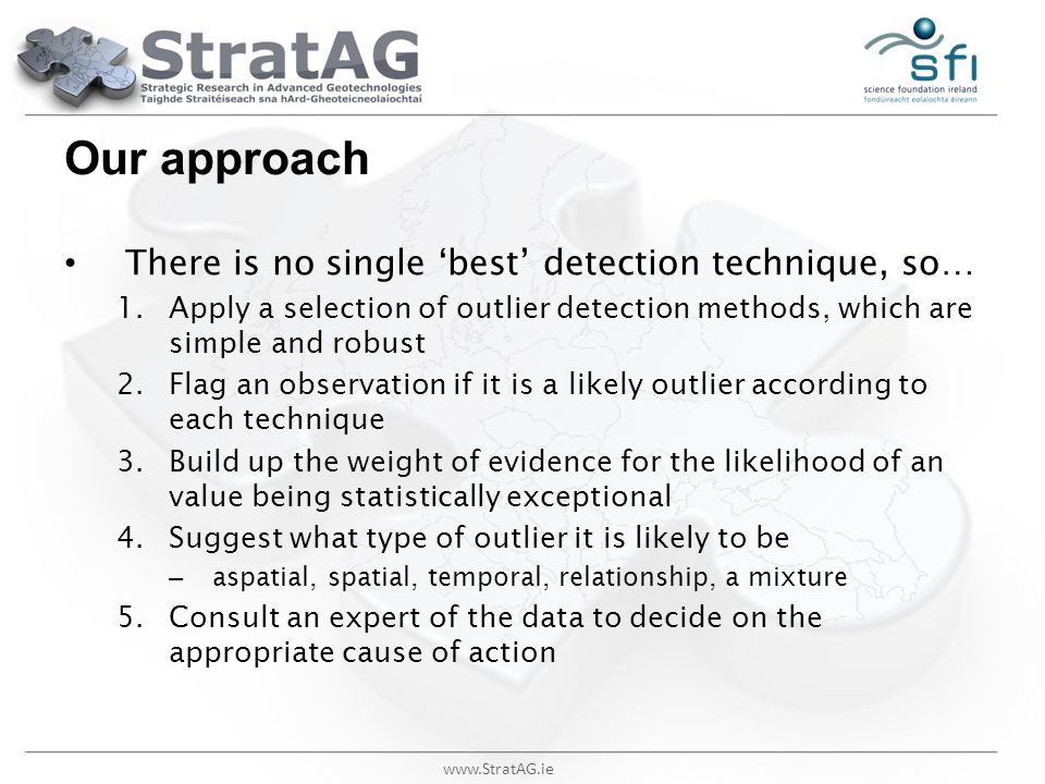 Our approach There is no single 'best' detection technique, so…