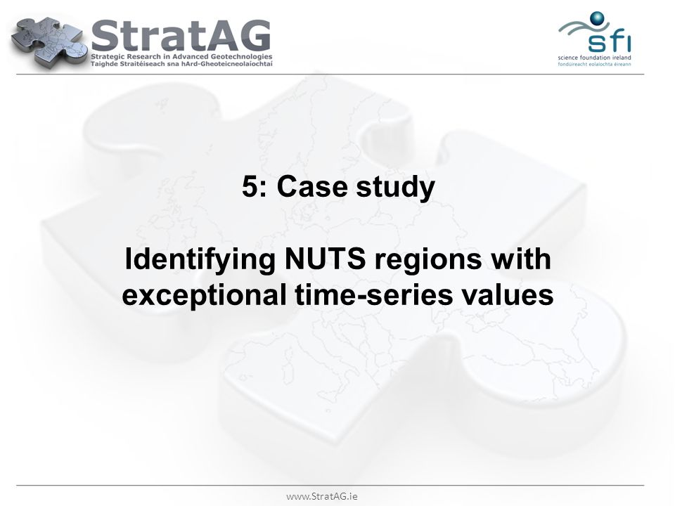 5: Case study Identifying NUTS regions with exceptional time-series values