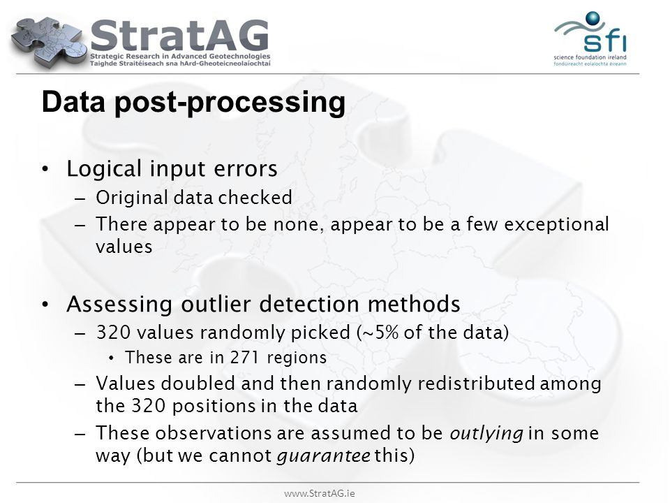 Data post-processing Logical input errors