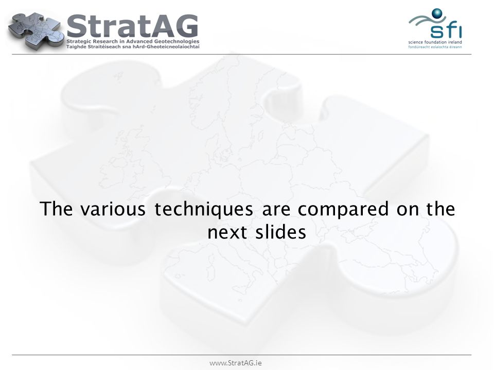 The various techniques are compared on the next slides