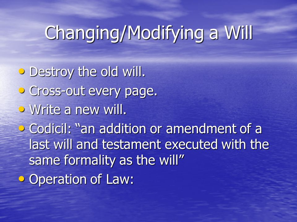 How to Write a Will?