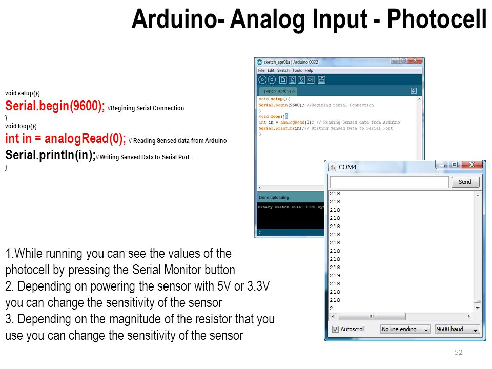 Input analog sensors variable resistors ppt download
