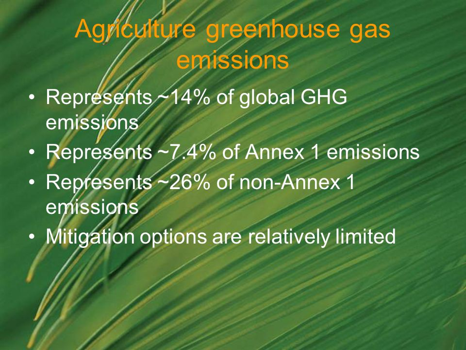 Agriculture greenhouse gas emissions