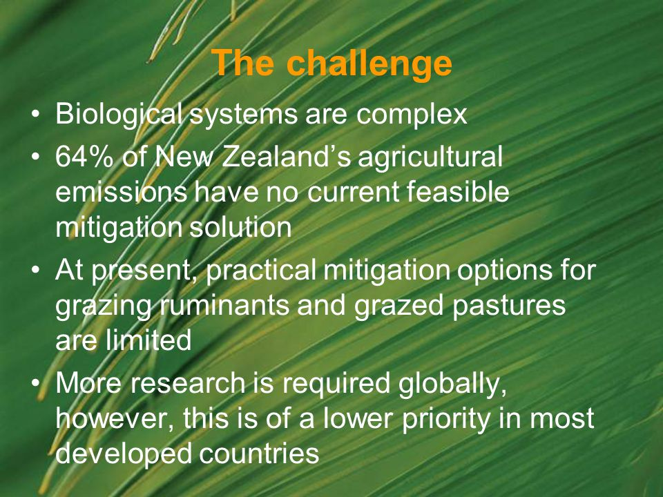 The challenge Biological systems are complex