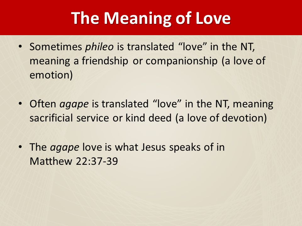 reevaluate relationship meaning in the bible