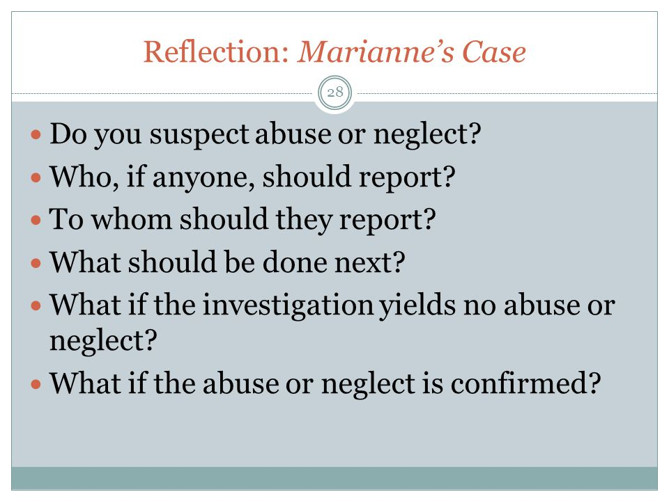 Reflection: Marianne's Case