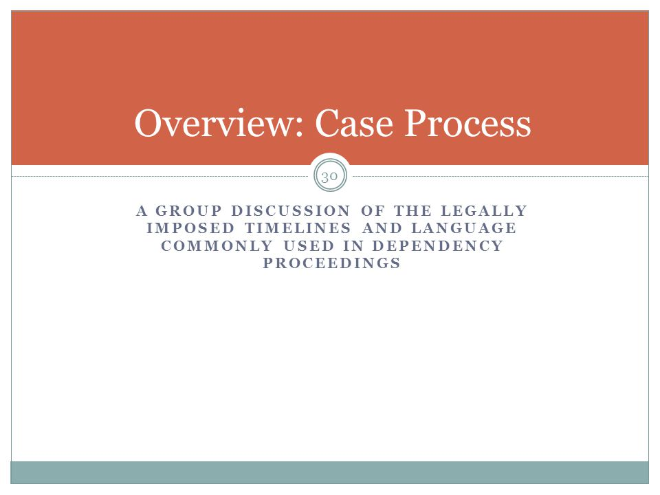 Overview: Case Process