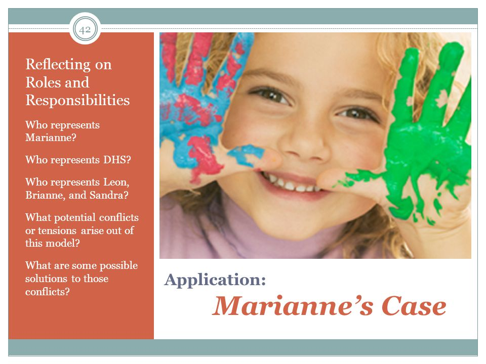 Application: Marianne's Case