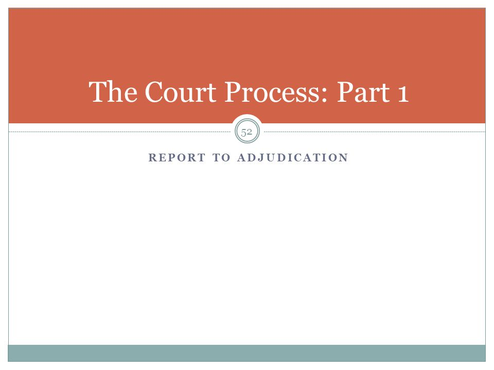 The Court Process: Part 1