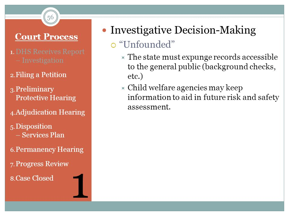 1 Investigative Decision-Making Unfounded Court Process