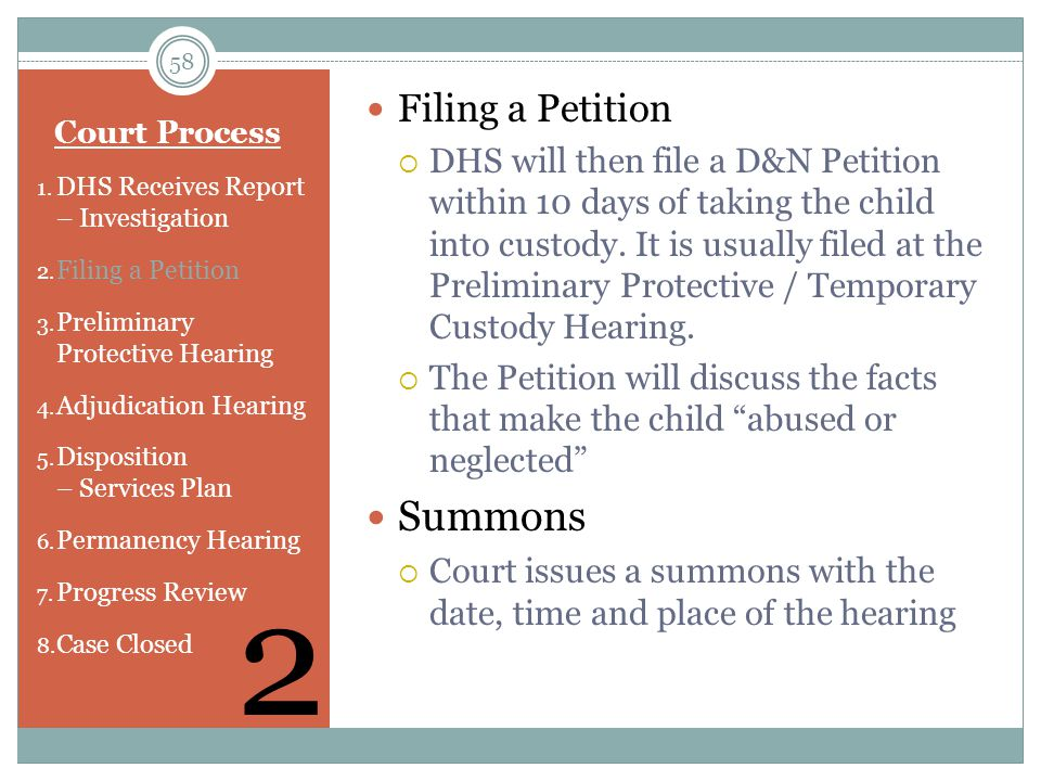 2 Summons Filing a Petition