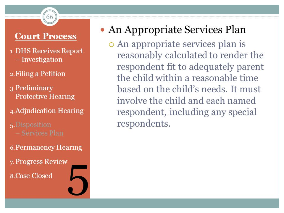 5 An Appropriate Services Plan
