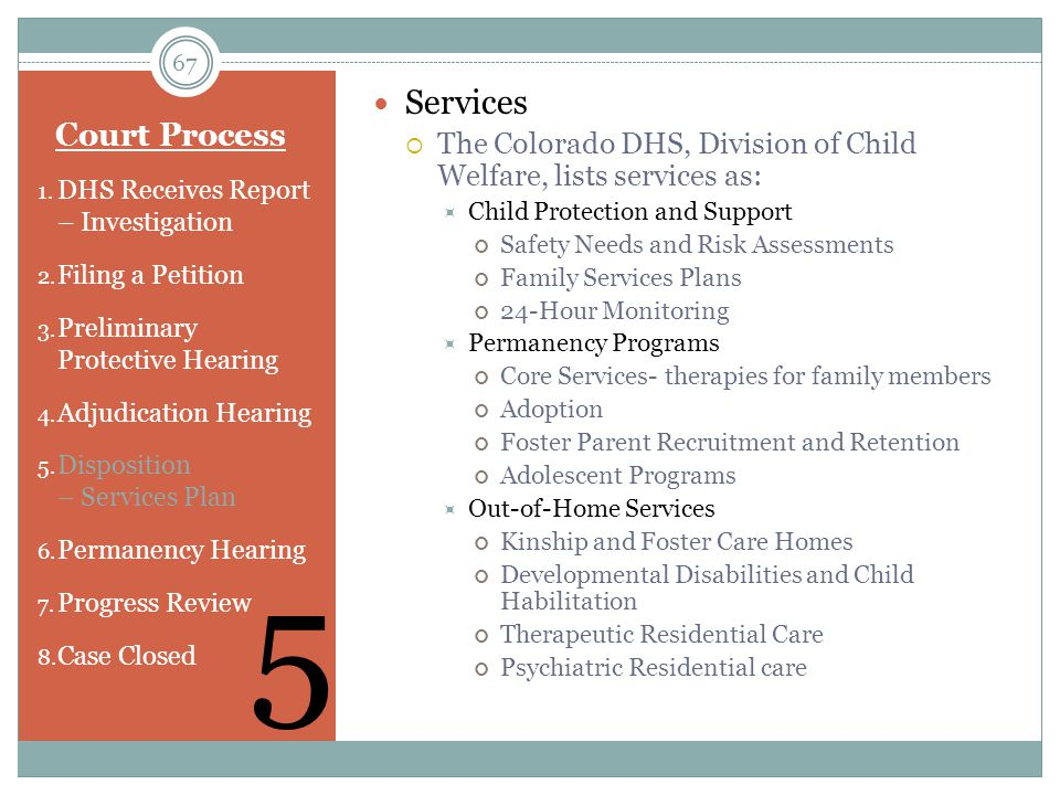5 Services Court Process