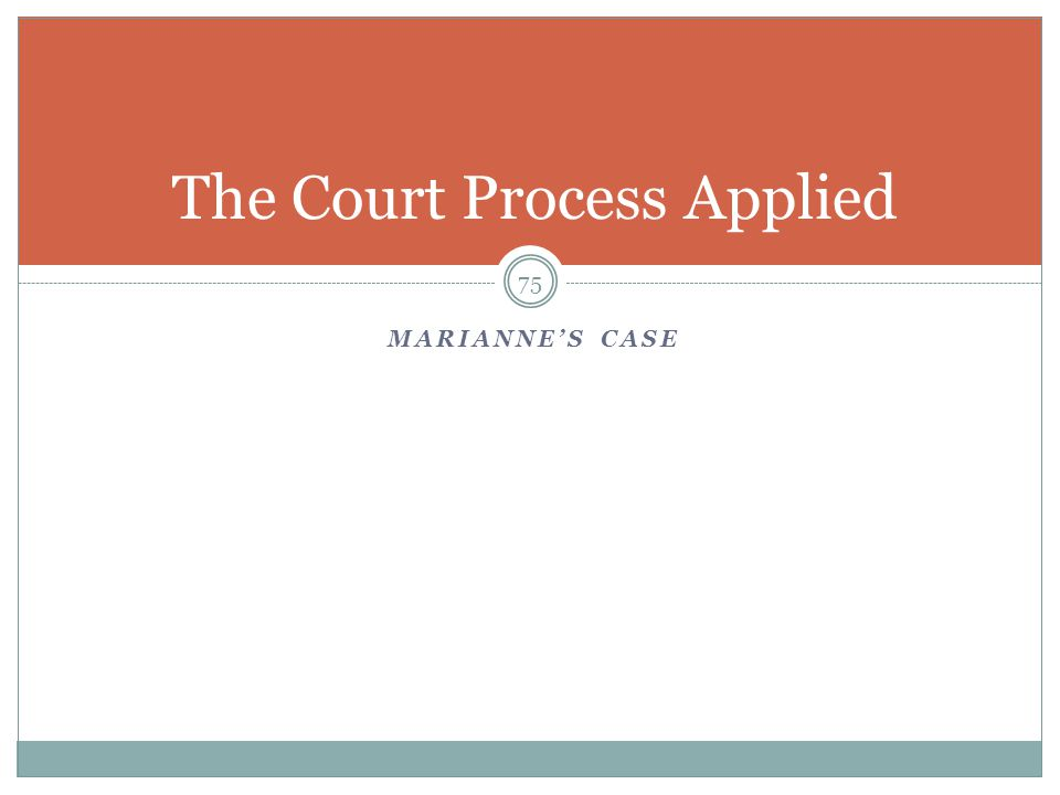 The Court Process Applied