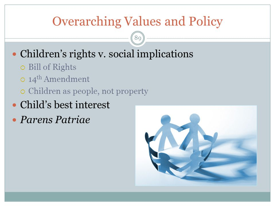 Overarching Values and Policy