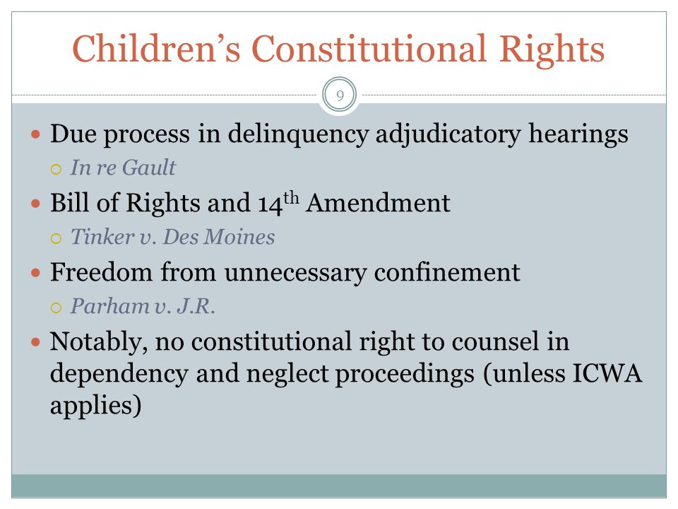 Children's Constitutional Rights