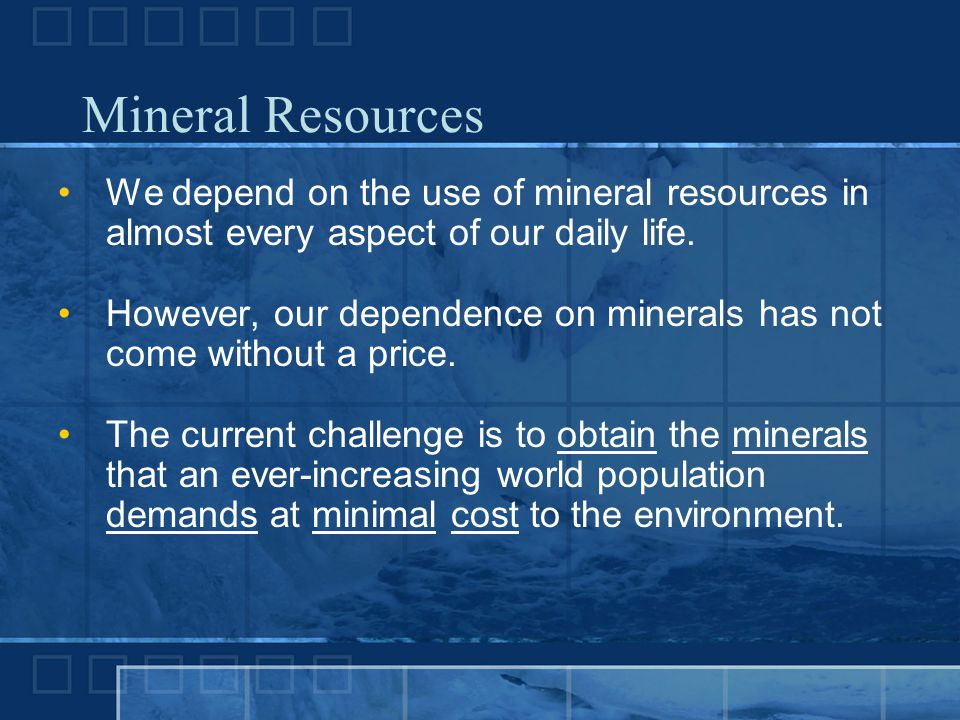 An analysis of life without minerals