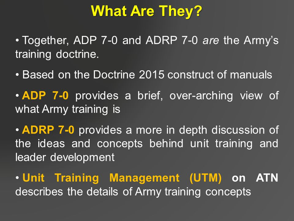 The ideas for the changes in army leadership doctorine