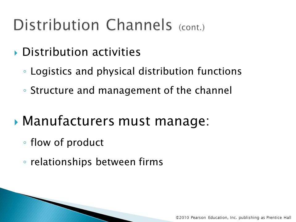 the relationship between channels of distribution and logistics