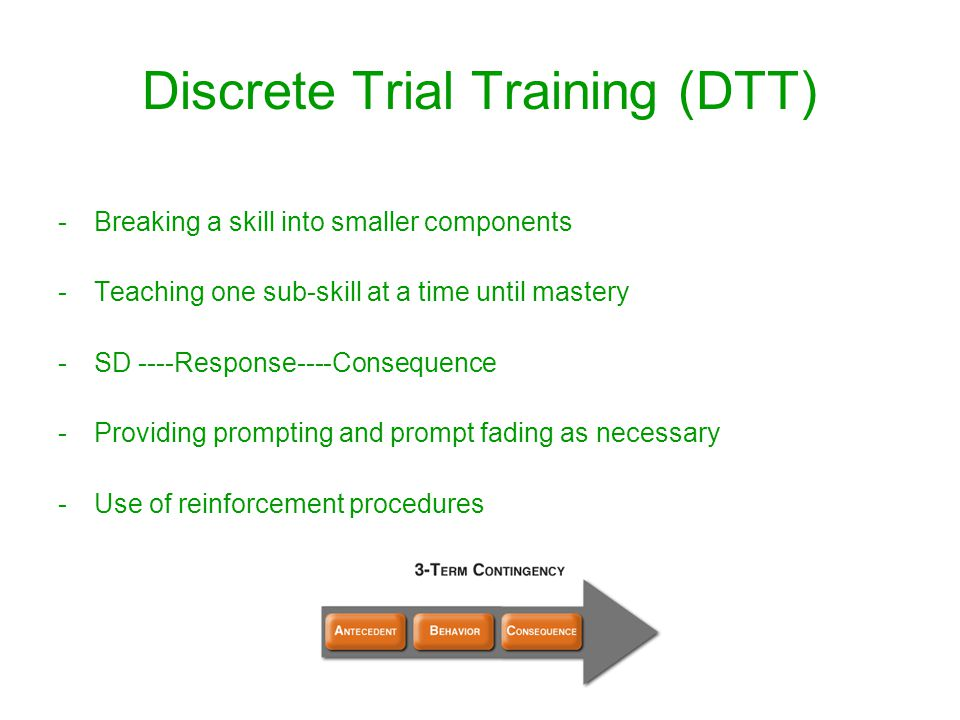 discrete trial training examples