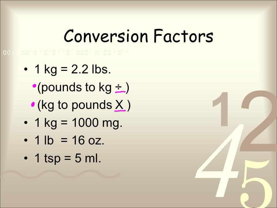 pound to kilogram conversion