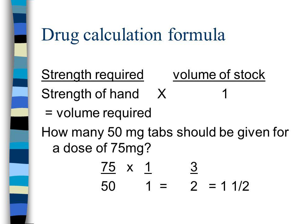 Dosage calculation | Term paper Sample - bluemoonadv com