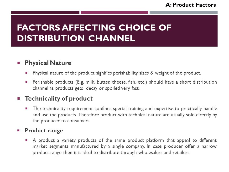 factors affecting the choice of course