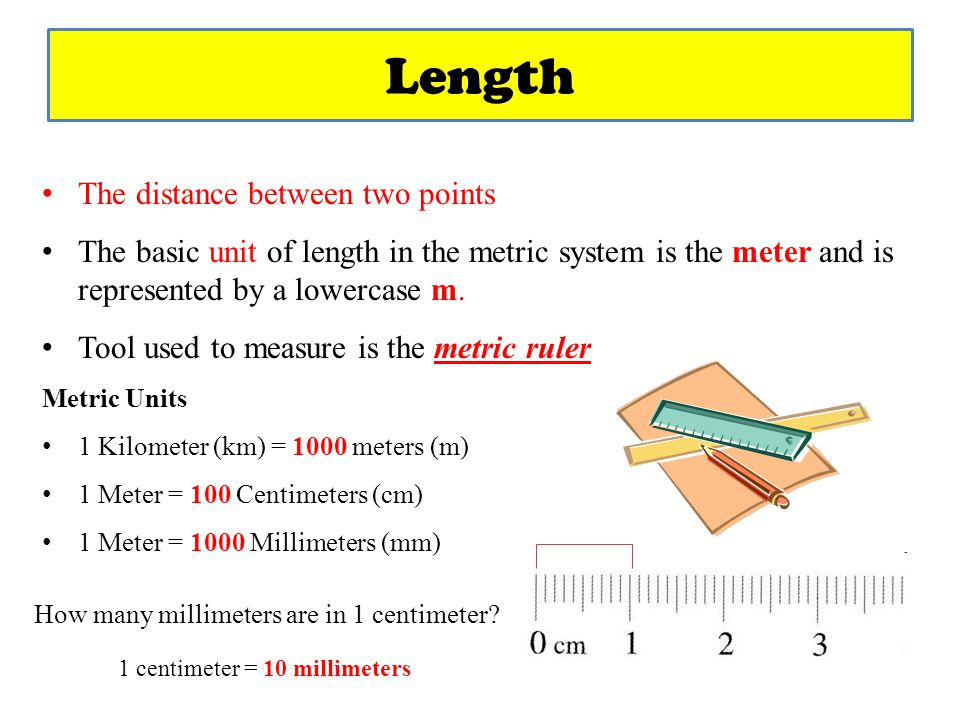 The metric system ppt video online download for Millimeters to meters