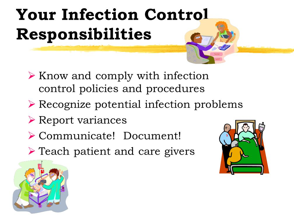 infection control procedures Scored ic020201: the organization implements infection prevention and  control activities when doing the  regulation note: this element of.