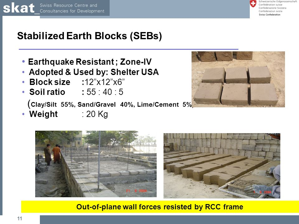 Stabilized Earth Walls Construction : Housing settlement through reinforced mud blocks ppt