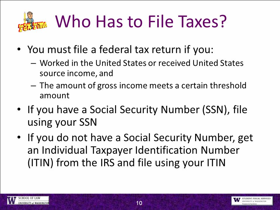 2015 taxes john clynch li chang wong uw federal tax clinic ppt who has to file taxes you must file a federal tax return if you ccuart Images