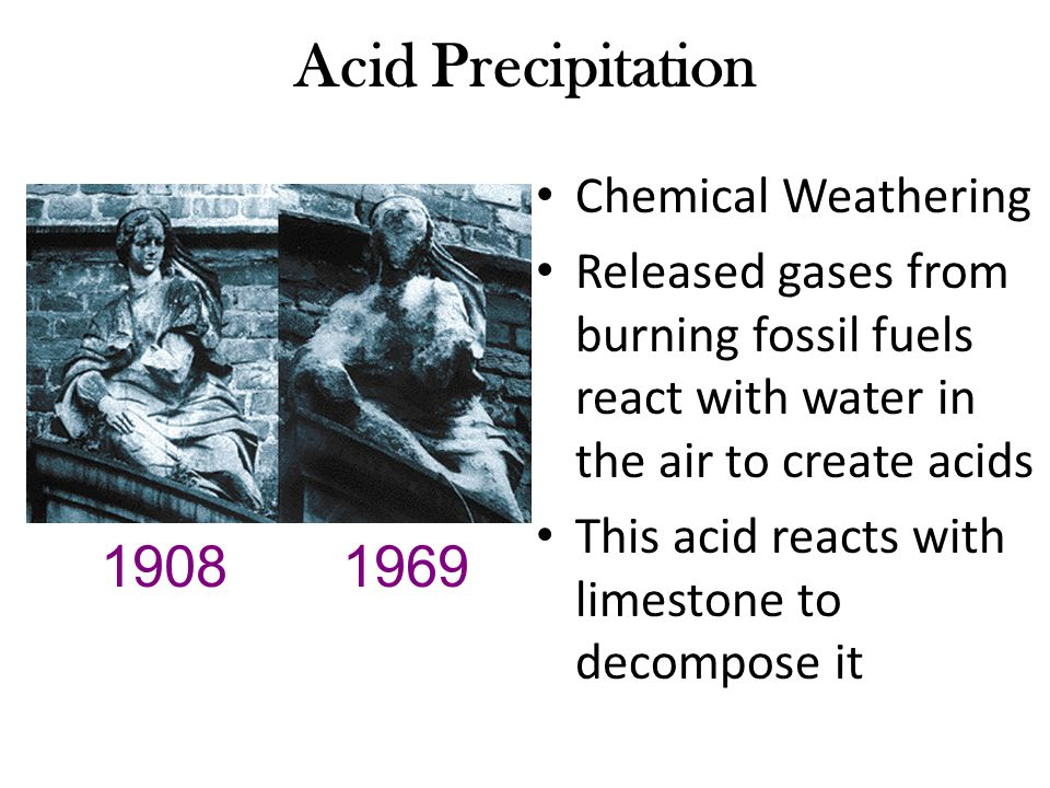 acid precipitation Chemistry of acid deposition acid rain is a popular expression for the more scientific term acid deposition, which refers to the many ways in which acidity can move from the atmosphere to earth's surface.