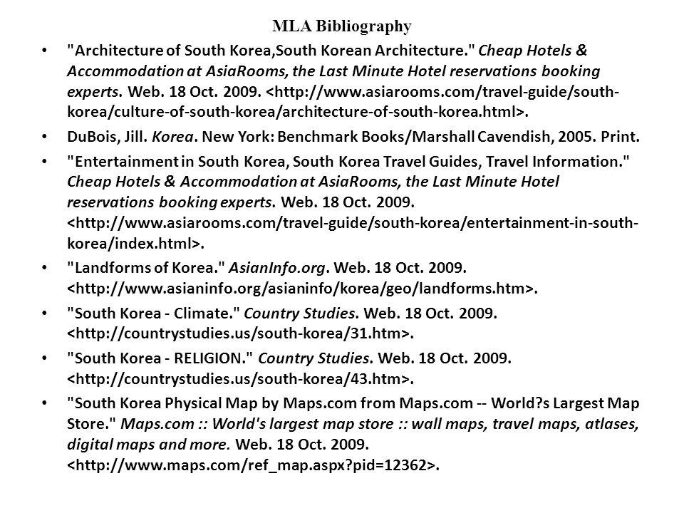 18 Mla Bibliography Architecture Of South Korea