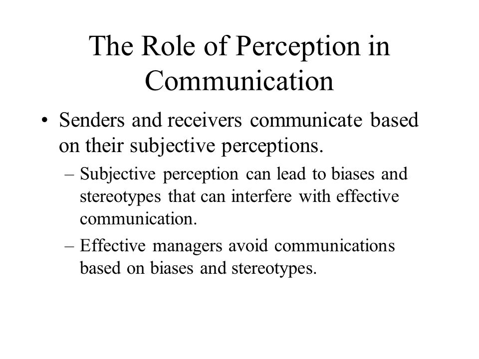 the role of perception The role of perception and action in memory, language, and thinking   studies show that sensory perception and motor actions support understanding  of.