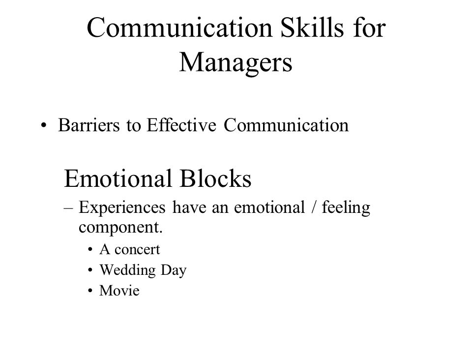 emotional barriers to communication pdf