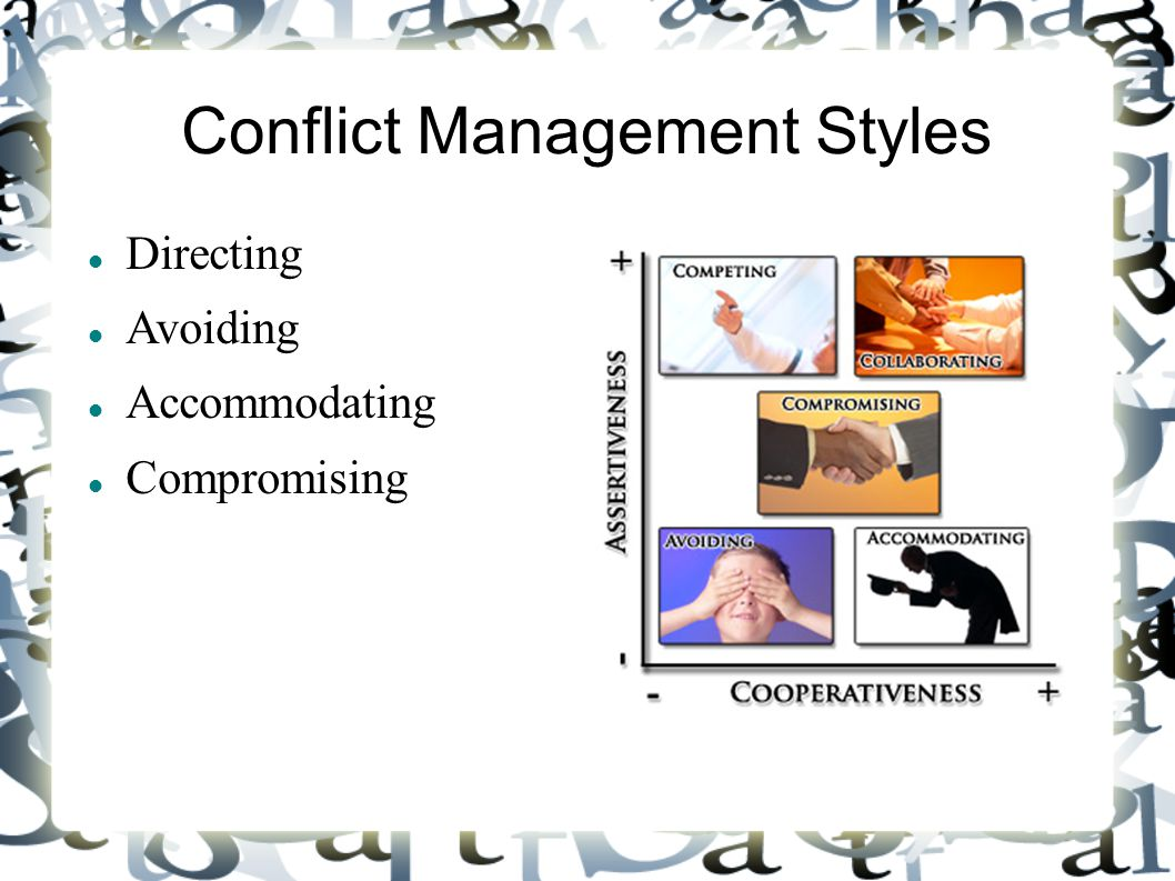 choosing a conflict management style Full-text paper (pdf): culture and conflict management style of international project managers.