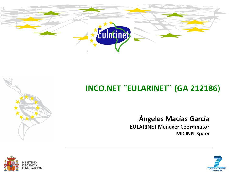 INCO.NET ¨EULARINET¨ (GA 212186)