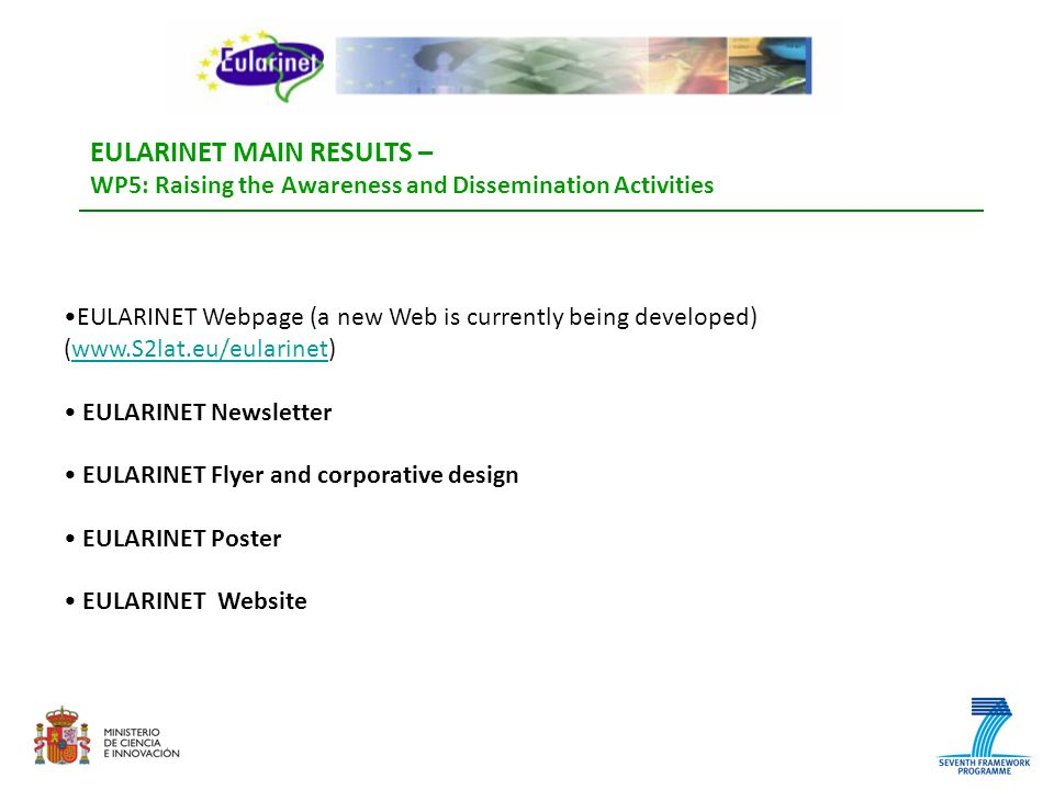 EULARINET MAIN RESULTS –