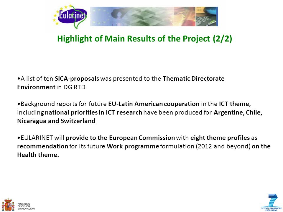 Highlight of Main Results of the Project (2/2)
