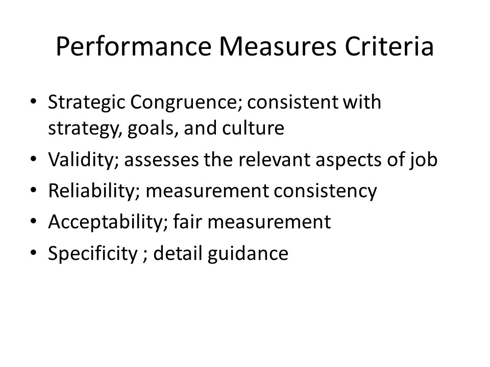 strategic management and performance criteria Smart criteria for performance excellence  the criteria for performance excellence each of the criteria's seven categories are divided into two or more sections the category descriptions are taken from the baldrige excellence framework's criteria for performance excellence  management strategic & business planning how to: manage.