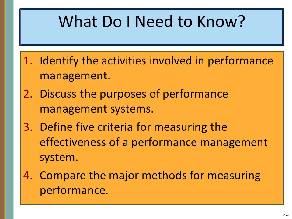 Chapter 8 Managing Employees Performance Ppt Video