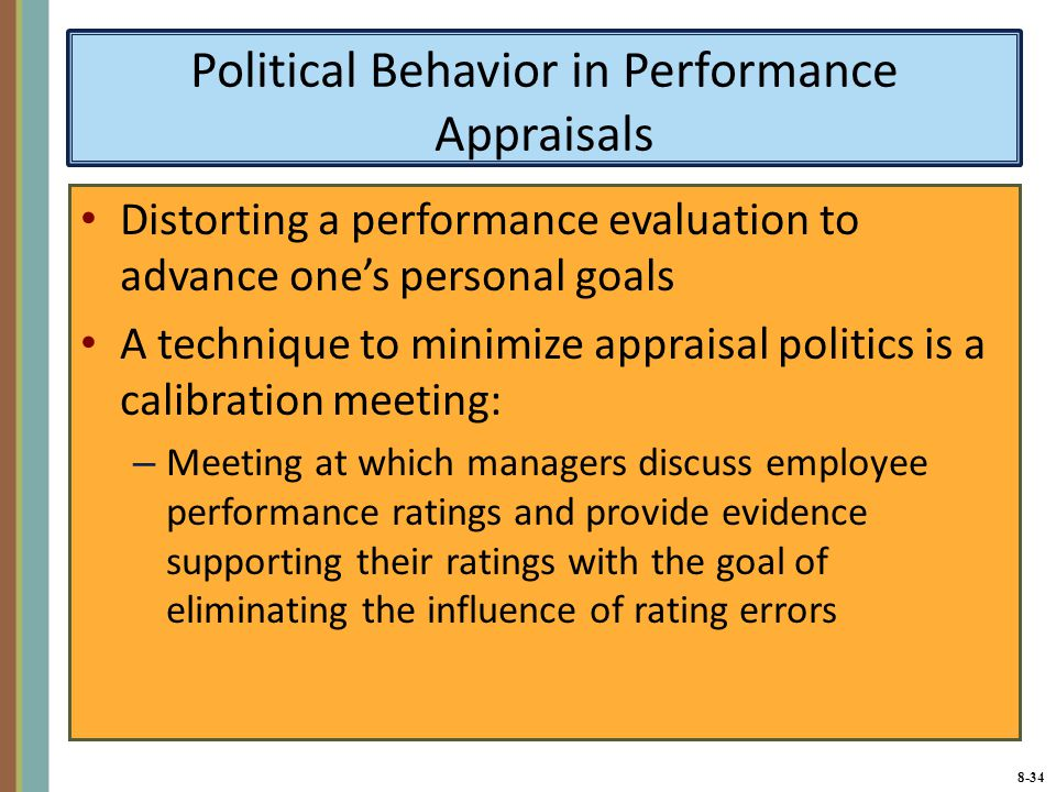 the politics of performance appraisal Peggy phelan is chair of the department of performance studies at new york university she is the author of unmarked: the politics of performance and mourning sex.