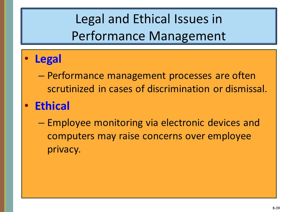 legal and ethical considerations of employee A company may very well have the legal right to monitor everything an employee does with its computer equipment  ethical issues for it security professionals.