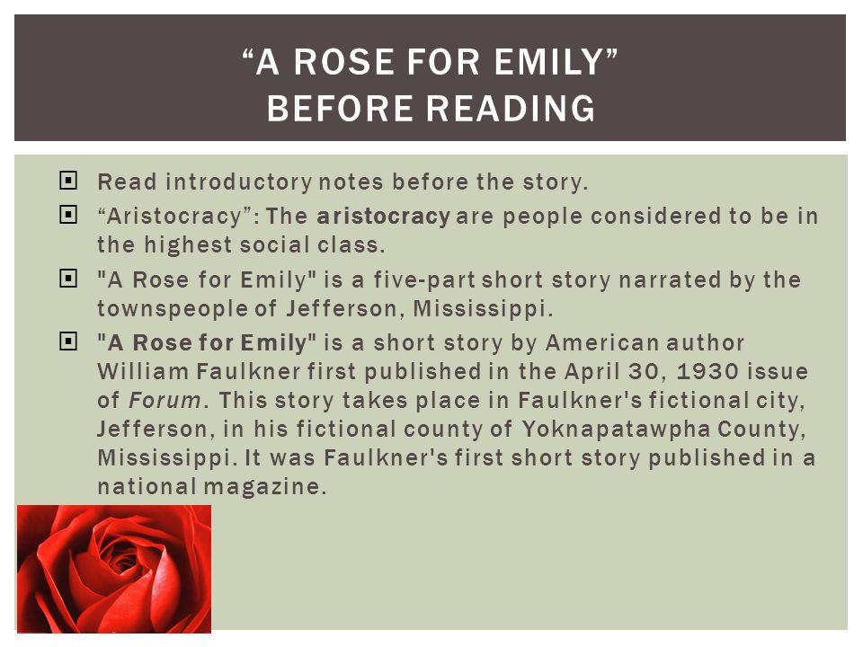 rose for emily short summary